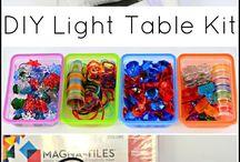 classroom: light table exploration
