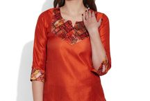Faux Silk Kurti- Women / Elegantly made with the silk fabric, you will love to get into these lovely looking faux silk kurti. Colors have been given to them to give a very classic and luxury look to them.