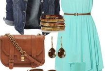 Turquoise dress outfit