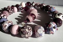 Handmade lampwork glass necklace / Necklace with handmade lampwork beads