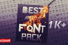 BEST HUGE FONT PACK 1K