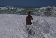 My son in Italy, but waves too big to swim