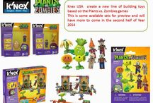 Knex USA create a new line of building toys based on the Plants vs. Zombies games