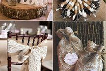 Rustic lace and burlap wedding ideas