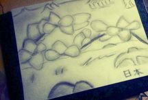 Un temps pour l'art / Des dessins que je dessine à mes désirs,  avec l'imagination de mes pensées, sur des envies de fusain et de crayon gris. Des couleurs permet de nettoyer le sombre paysage des uns et des autres.