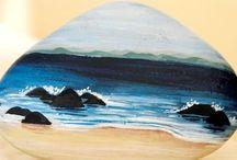 beach painted rocks