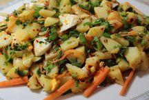 Grillen und Salate