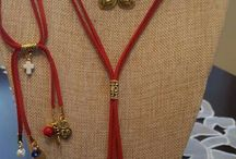 collar chokers rojo