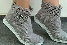 связанная обувь, гольфы, гетры, носки