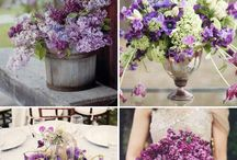 Lilac and purple wedding