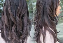 dark ash brown hair