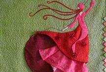 la dama de rosso