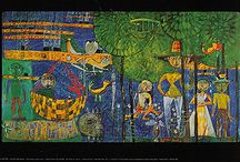 Hundertwasser / when you're looking for something beyond ordinary . . . old,  very limited and collectible collotype prints