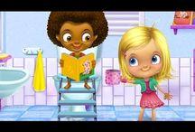 Пенная вечеринка Девочка купается в ванной Малыш захотел в туалет Чистим зубы Мультик игра для детей