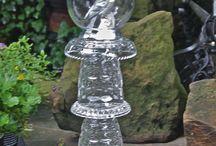 Glass garden totems