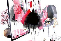 girls fashion art