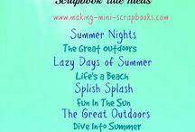 Scrapbook Titles