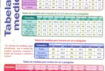 tabela medida tricô