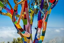 Yarn bombing / Tricot-graffiti; tricot, crochet, laine, street art