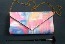 Handpainted handmade handbag by TOYZA