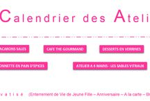 Calendrier Atelier Cook'Odile