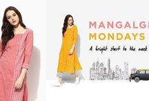 Mangalgiri Mondays / A workwear collection in Mangalgiri fabrics from Indian Dobby