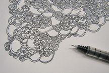 Doodling, Zentangle, Mandala, ect...