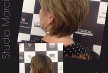 Antes e depois - corte curto / Curtos e loiros
