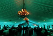 Westhills Country Club / Lighting in the large outdoor ballroom by HourglassLighting.com