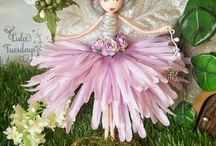 Clothespins fairy dolls
