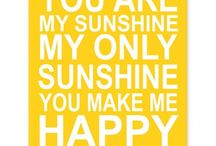 Happy Yellow / Yellow = joy !