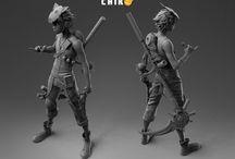 3D /  3D - скульптуры, которые меня вдохновили