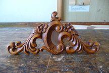 furniture - details II / převážně reliefní řezba