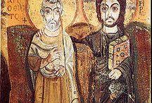 Jezus i Menas ikona przyjaźni
