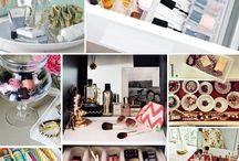 Organizing make up, bedroom, closet, bathroom etc.