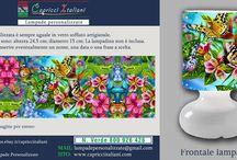 Natura&Animali / Lampade da Tavolo in vetro soffiato a bocca con l'immagine desiderata di natura o animali. E' possibile inviare la foto desiderata o scegliere tra quelle proposte. www.capricciitaliani.com