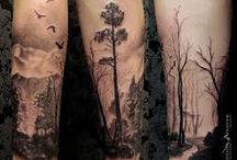 full forearm nature tattoo