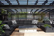 Small Pergola Rooftop Patio