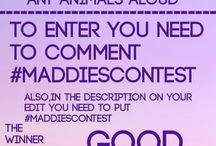 Contests by Maddie / Contests by me! Everyone is welcome and anyone can join my contests! You can enter the contest by commenting #Maddiescontest on any of the contests!
