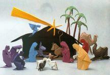 origami kerst
