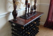 wine bottle hall stand