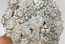 Brooch Bouquets / A recent trend in wedding bouquets is to create one made of brooches!