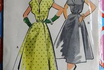 My vintage pattern stash / Vintage, reproduced and retro sewing patterns
