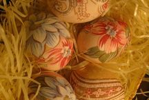 Silk fabric Easter eggs