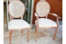 Klasik hasırlı yuvarlak sandalye