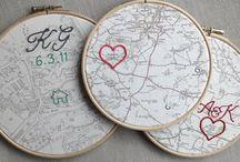cross-stitch, embroidery, knitting