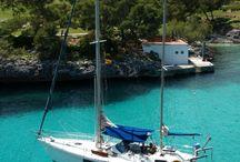 Isla de Mallorca (España) en velero. / Viajes en velero parando en las mejores calas.