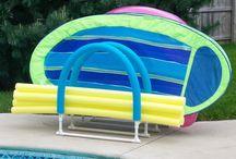 Pool toys storage