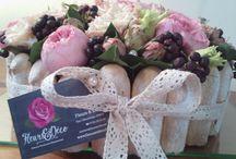 Gâteau floral / Déco gourmande vintage