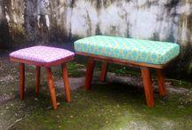 Folclore / Diseño de mobiliario contemporáneo con detalles de artesanía indígena.